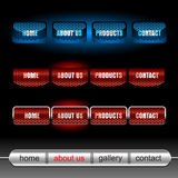 Editable website vector buttons. Editable website buttons on black vector illustration