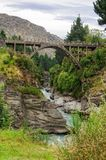 Edith Cavell Bridge - Queenstown. Edith Cavell Bridge over the Shotover River - Queenstown, New Zealand royalty free stock photography