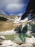 Edith Cavell Glacier och sjö Fotografering för Bildbyråer