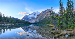Edith Cavell Lake. Jasper National Park, Alberta, Canada stock image