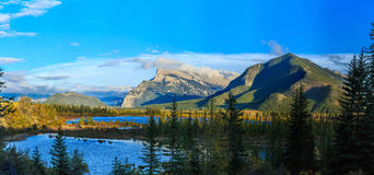 Edith Cavell Lake. Jasper National Park, Alberta, Canada royalty free stock images