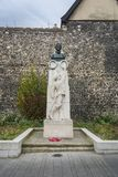 Edith Cavell Memorial. In Norwich, Norfolk, UK stock photo