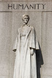 Edith Cavell Monument, London. Statue commemorating the nurse and heroine Edith Cavell ( 1865 - 1915) who was shot by a German firing squad for treason in World stock photos