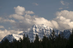 Edith Cavell Mountain. Close-up on the Edith Cavell Mountain located in Jasper National Park, Alberta Canada Stock Photos