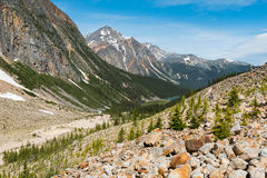 Edith Cavell. Scenic Mount Edith Cavell, Jasper National Park Alberta Canada stock photo