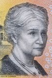 Edith Cowan a portrait. From Australian money stock image