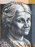 Edith Cowan portrait. From Australian money stock photography