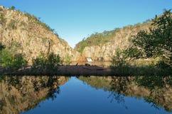 Edith Falls bij het Nationale Park van Nitmiluk stock foto's