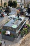 Edith Piaf bij de Begraafplaats van Pere Lachaise in Parijs Royalty-vrije Stock Afbeelding