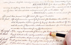 Editing Erasing First Amendment US Constitution Royalty Free Stock Images