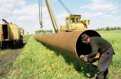 Editing of gas pipe Royalty Free Stock Photos