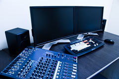 Editing station Royalty Free Stock Images