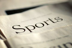 Edition of the daily newspaper Sports section Royalty Free Stock Photo