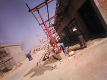 Edition & renovations of Paledi Mall. Construction in progress Royalty Free Stock Images