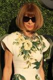 Editor-in-chief του περιοδικού Anna Wintour μόδας στο κόκκινο χαλί ενώπιον των ΗΠΑ ανοίγει την τελετή βραδιάς των εγκαινίων του 2 Στοκ Εικόνες
