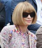 Editor-in-chief Anna Wintour περιοδικών μόδας στο Roland Garros 2015 Στοκ φωτογραφίες με δικαίωμα ελεύθερης χρήσης