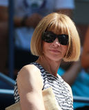 Editor-in-chief of Vogue magazine Anna Wintour attends US Open 2016 match. NEW YORK - SEPTEMBER 4, 2016: Editor-in-chief of Vogue magazine Anna Wintour attends Royalty Free Stock Photos