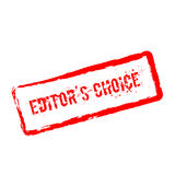 Editor`s Choice red rubber stamp isolated on. Stock Photos