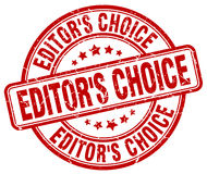 Editor`s choice red stamp Royalty Free Stock Photos