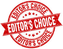 Editor`s choice round grunge stamp Royalty Free Stock Photography