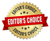 Editor`s choice round isolated badge Stock Photography