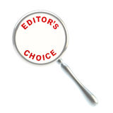 Editor's choice under the magnifier Stock Photo