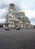 Editorial The Alexander Nevsky Cathedral Sofia Bulgaria. SOFIA, BULGARIA-SEPTEMBER 19: The Alexander Nevsky Cathedral is seen visited by tourists in Sofia Royalty Free Stock Images