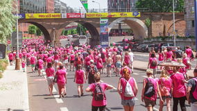 Editorial - Avon breast cancer awareness walk stock footage