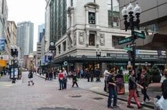 Editorial: Boston, Massachusetts / USA, 5th November 2017. Downtown Boston's Chinatown