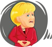 Editorial Caricature  of Angela Merkel Royalty Free Stock Images