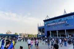 Editorial: Chang Arena, Buriram, Thailand, 8th May 2018. AFC Cha. Mpions League 2018 : Round of 16 teams final : 8 May 2018, Buriram United - Jeonbuk Hyundai Stock Photo
