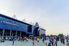 Editorial: Chang Arena, Buriram, Thailand, 8th May 2018. AFC Cha. Mpions League 2018 : Round of 16 teams final : 8 May 2018, Buriram United - Jeonbuk Hyundai Royalty Free Stock Image