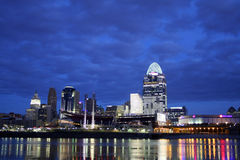EDITORIAL Cincinnati Just Before Dawn Royalty Free Stock Images