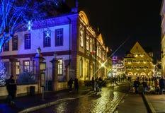 Editorial: 22 de diciembre de 2016: Colmar, Francia Highlig de la Navidad Fotos de archivo