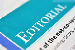 Editorial de la palabra Editorial del concepto foto de archivo