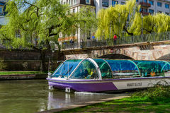 Editorial: 25 de março de 2017: Strasbourg, França Rua vi da mola Foto de Stock