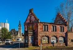 Editorial: 14 de marzo, Estrasburgo, Francia Viejo abandonado arruinado Fotos de archivo libres de regalías