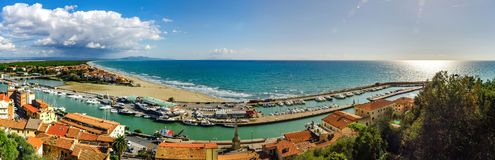 Editorial: 9 de octubre de 2017: Della Pescaia, Italia de Castiglione L Fotos de archivo libres de regalías