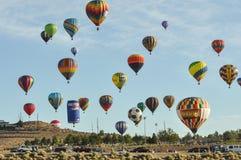 Editorial 2012 del globo del aire caliente Foto de archivo libre de regalías