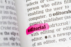 Editorial  Dictionary Definition. Single word with soft focus Royalty Free Stock Photo