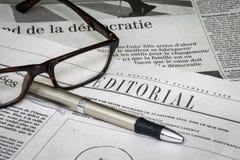 Editorial do jornal imagem de stock
