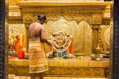 Editorial documental Templo de Arulmigu Manakula Vinayagar, PUDUCHERY, PONDICHERY, TAMIL NADU, la INDIA - marzo circa, 2018 Indio Fotografía de archivo libre de regalías