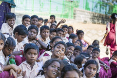 Editorial documentary image. School children Royalty Free Stock Photography