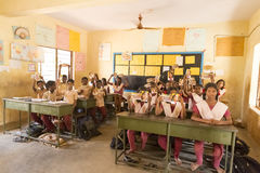 Editorial documentary image. School children Stock Photography