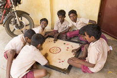 Editorial documentary image. School children royalty free stock photo