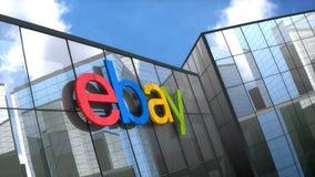 Editorial, Ebay logo on glass building.