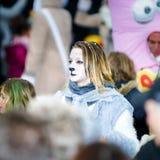 Editorial, el 14 de febrero de 2016: Selestat, Francia: Carnaval y par Imagen de archivo