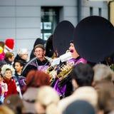 Editorial, el 14 de febrero de 2016: Selestat, Francia: Carnaval y par Imagen de archivo libre de regalías