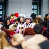Editorial, el 14 de febrero de 2016: Selestat, Francia: Carnaval y par Foto de archivo libre de regalías