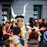 Editorial, el 14 de febrero de 2016: Selestat, Francia: Carnaval y par Imágenes de archivo libres de regalías